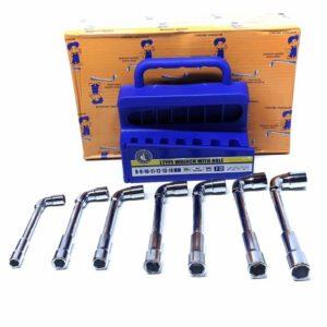 Set od 7 L cijevnih ključeva sa otvorom